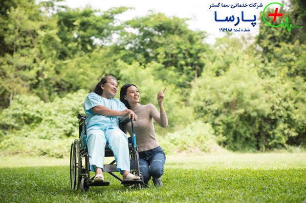 نگهداری سالمند معلول