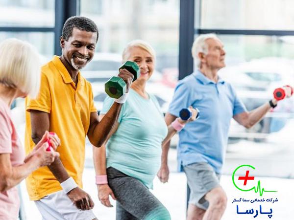 ورزش و نگهداری سالمند در منزل