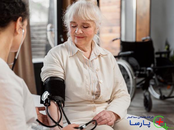 نگهداری سالمند با فشار خون بالا